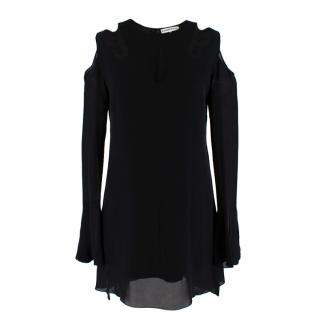 Roland Mouret Black Silk Cut-out Mini Dress