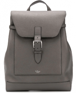 Mulberry Grey Grained Leather Chiltern Backpack