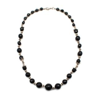 Max & Moi Black Crystal Beads Necklace
