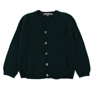Bonpoint Kids Green Wool Cardigan