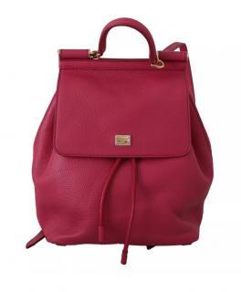 Dolce & Gabbana Pink Sicily Backpack
