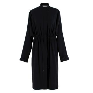 Jil Sander Navy Crepe Lightweight Coat
