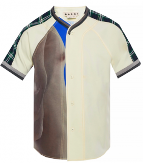 Marni Patchwork Oversize Mens Shirt