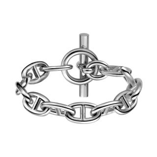 Hermes Sterling Silver Chaine d'Ancre Bracelet