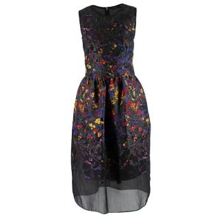 Malene Oddershede Bach Black Brocade Sleeveless Midi Dress