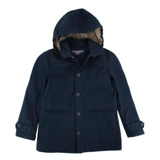 Bonpoint Navy Hooded Rain Coat