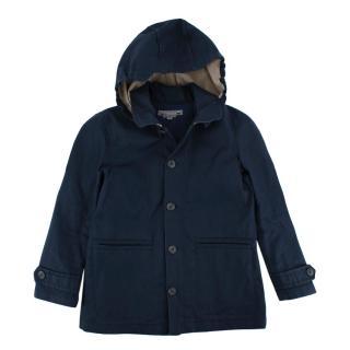 Bonpoint Navy Hooded Rain Coat