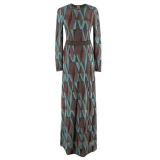 M Missoni Multi-coloured Metallic Crochet-knit Maxi Dress