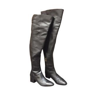 Sergio Rossi OTK Black Leather Boots