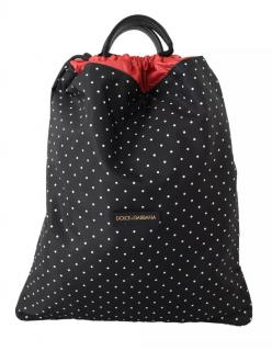 Dolce & Gabbana black dot nap sack bag