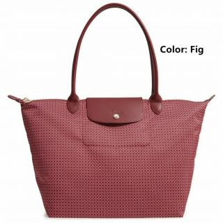 Longchamp pink canvas tote bag