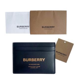 Burberry Black & Gold Logo Limited Edition Card Holder