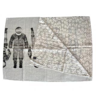 Chanel Astronaut Cashmere Shawl