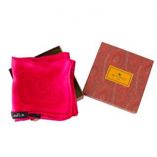 Etro Pink Silk Paisley print Neck Scarf
