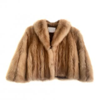 Citerna Chinchilla Fur Short Boxy Jacket