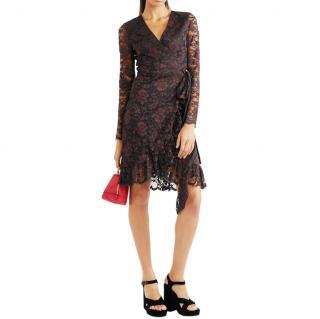 Ganni Lace Flynn Ruffle Dress
