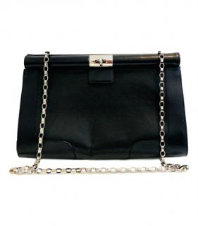 Dries Van Noten black leather and chain shoulder bag