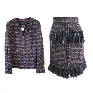 Chanel Paris-Dallas Runway Tweed Skirt Suit