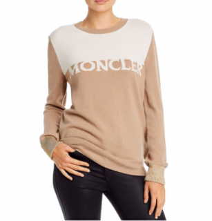 Moncler Logo round neck jumper in cashmere & Wool