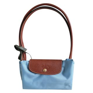Longchamp Baby Blue Large Le Pliage Tote Bag