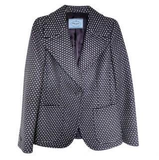 Prada Embroidered Wool Tailored Jacket