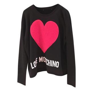 Love Moschino Textured Heart Jumper
