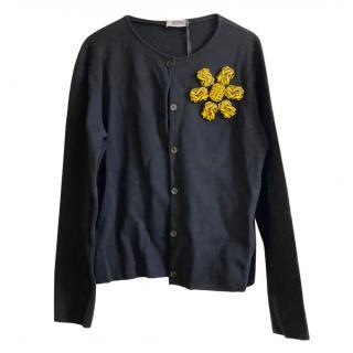 Moschino Cheap & Chic Black Wool Blend Cardigan