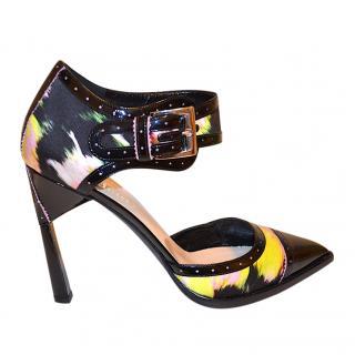 Nicholas Kirkwood Sating & Leather Painted Sandals
