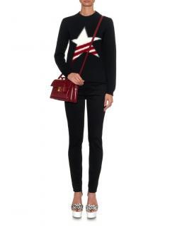 MSGM Virgin Wool Intarsia Star Knit Jumper