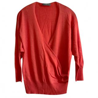 McQ by Alexander McQueen Wool Blend Crossover Knit Top