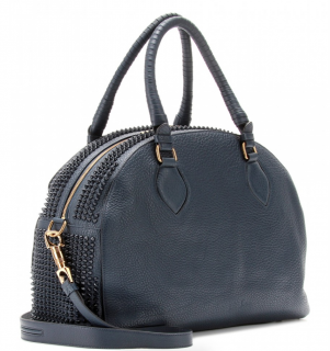 Christian Louboutin Navy Panettone Large Studded Tote