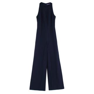 Ralph Lauren Collection Navy Cut-Out Sleeveless Jumpsuit