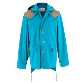 Jonathan Saunders Blue/Camel Hooded Jacket