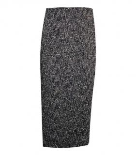 Giambattista Valli flocked wool pencil skirt