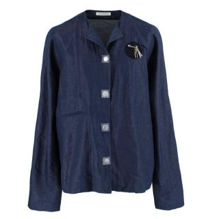 J.W. Anderson Blue Cotton & Linen blend Denim Shirt