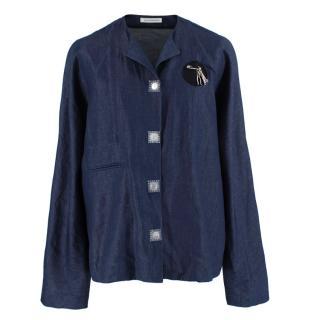 JW Anderson Blue Cotton & Linen blend Denim Shirt