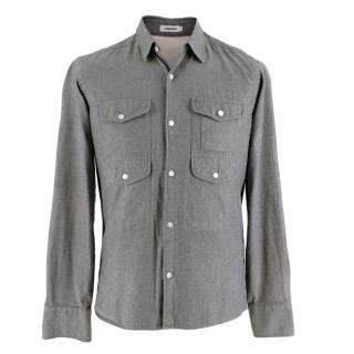J. Lindeberg Grey Cotton Shirt with Pocket Details