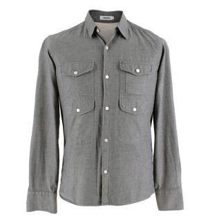 J. Lindeberg Grey Cotton Shirt with Pocket Details