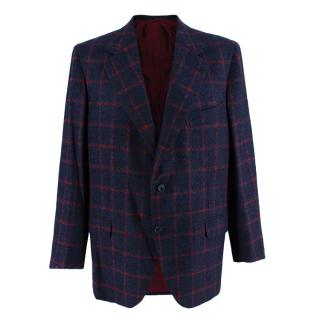 Donato Liguori Navy & Red Cashmere & Mohair blend Tailored Jacket