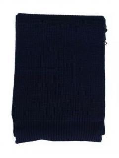 Dolce & Gabbana Navy Virgin Wool Scarf