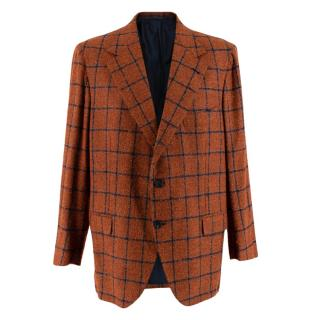 Donato Liguori Orange Cashmere & Mohair Hand Tailored Jacket