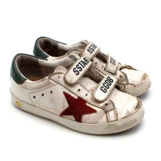 Golden Goose Kids White Old School Sneakers