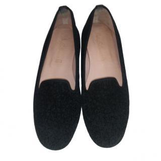 Pretty Ballerinas Black Suede Faye Flats