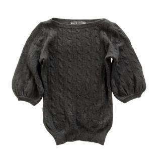 Ralph Lauren Black Label Cable Knit Puff Sleeve Jumper