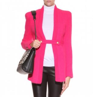 Balmain Pink Angora Blend Cardigan