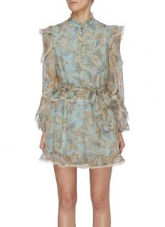 Zimmermann Sky Blue Ladybeetle Frill Playsuit