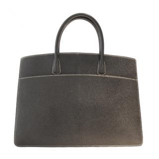 Hermes vintage black Chevre Coromandel Leather Bag