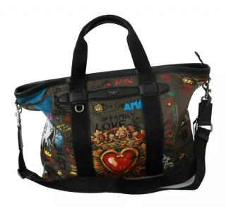 Dolce & Gabbana Khaki Graffiti Print Shoulder bag