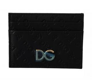 Dolce & Gabbana Men's Black Monogram Card Holder