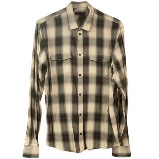 IRO Mens Plaid Classic Shirt